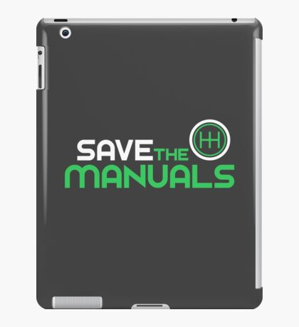 Save The Manuals (2) iPad Case/Skin