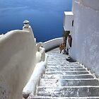 ...the entrance to Santorini - Greece .. by John44