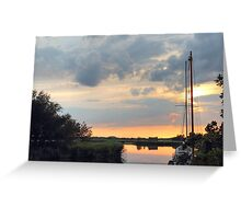 Sunset at horsey mere Greeting Card