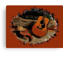 Leather, Wood, Strings, and Straw... products Canvas Print