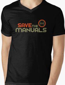 Save The Manuals (4) Mens V-Neck T-Shirt