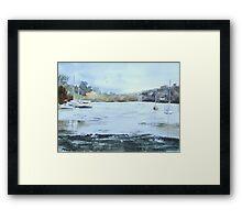 Moored at Mylor Bridge Framed Print