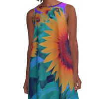 Sunflower Fantasy A-Line Dress