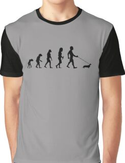 Evolution To Dachshund Funny Graphic T-Shirt