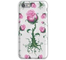 Pink Roses - Pretty Floral Pattern iPhone Case/Skin