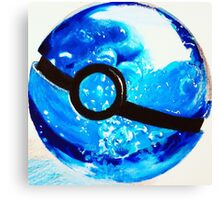 Water great Pokeball Canvas Print