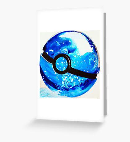 Water great Pokeball Greeting Card