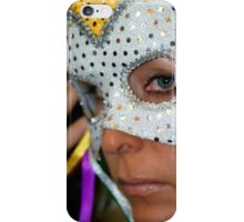 Woman with mask iPhone Case/Skin