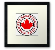 #1 Black and Red Color Scheme - Toronto Basketball Framed Print