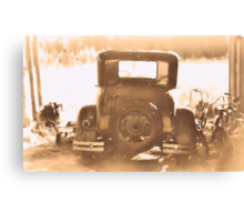 Tin Lizzie, Rear View... products Canvas Print