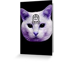 Cult Cat Greeting Card