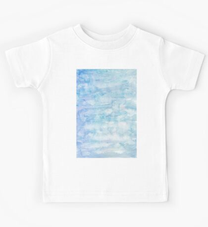 Winter snow, ice and water watercolour wall art home decor and fashion  Kids Tee