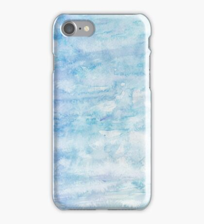 Winter snow, ice and water watercolour wall art home decor and fashion  iPhone Case/Skin