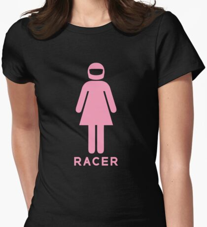 Woman Racer (1) Womens Fitted T-Shirt