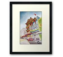 Chinatown Street Scene Framed Print