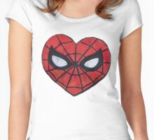 Spidey Love Heart Women's Fitted Scoop T-Shirt