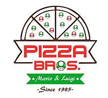 Pizza Bros Photographic Print