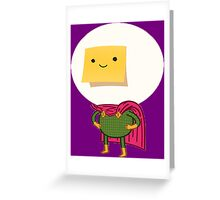 Sticky Note Mysterio Greeting Card