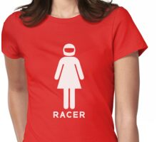 Woman Racer (2) Womens Fitted T-Shirt