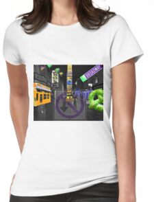 City Never Sleeps Womens Fitted T-Shirt