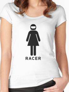 Woman Racer (3) Women's Fitted Scoop T-Shirt