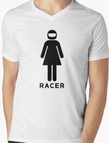 Woman Racer (3) Mens V-Neck T-Shirt