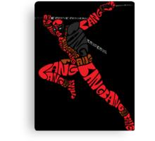 Deadpool Typography Canvas Print