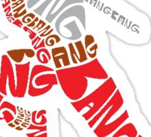 Deadpool Typography Sticker