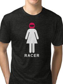 Woman Racer (4) Tri-blend T-Shirt