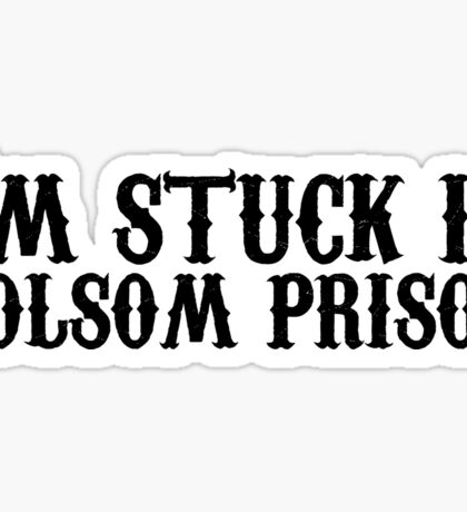 johnny cash man in black country rock icon music lyrics ring of fire folsom prison blues outlaw cool hippie t shirts Sticker