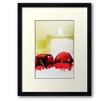 Jingle Bells and Candle Framed Print