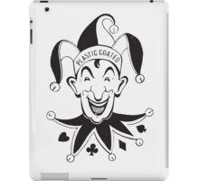 Vintage Joker Card Face iPad Case/Skin