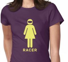 Woman Racer (5) Womens Fitted T-Shirt