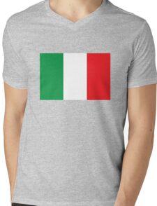 Italy flag Mens V-Neck T-Shirt