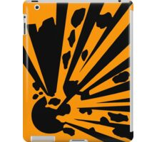Explosion sign items are sure to get you noticed! iPad Case/Skin
