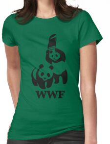 funny wwf Womens Fitted T-Shirt