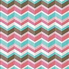 Sweet Tooth: Pink Blue & Brown Chevron Pattern by Lisa Marie Robinson
