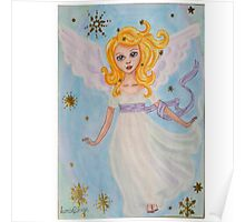 Christmas angel in the sky Poster