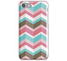 Sweet Tooth: Pink Blue & Brown Chevron Pattern iPhone Case/Skin