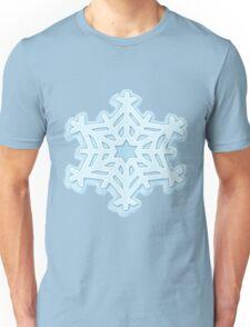 Big Snowflake Snow Flurries Winter Christmas Unisex T-Shirt