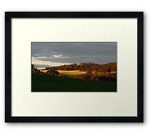 The Red Roof (between green and yellow) Framed Print