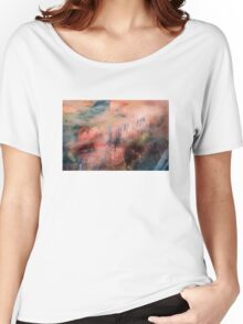 Colorful Auras...Grey Fences Women's Relaxed Fit T-Shirt
