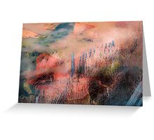 Colorful Auras...Grey Fences Greeting Card