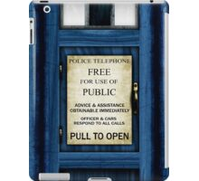 Free For Use Of Public - Tardis Door Sign - (please see description) iPad Case/Skin