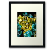Reflections of Blue and Yellow Framed Print