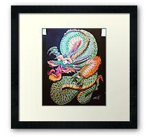 East West Dragon Framed Print