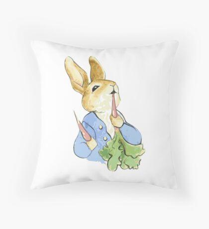 Peter Bunny Throw Pillow