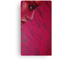 Red Woman Canvas Print