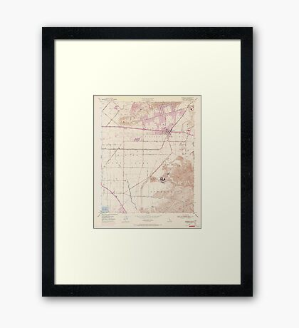 USGS TOPO Map California CA Camarillo 302574 1950 24000 geo Framed Print