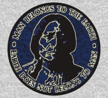 Sitting Bull Blue, Earth Does Not Belong To Man One Piece - Short Sleeve
